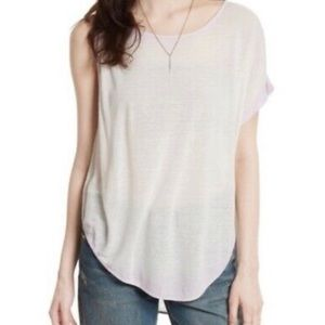NWT Free People Pluto One-Shoulder Tee in Lavender